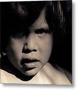 White Mountain Apache Girl Rodeo White River Arizona 1969-1984 Metal Print