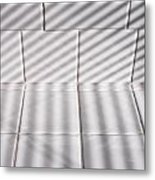 White Pattern Metal Print