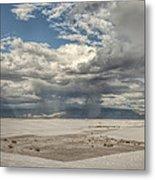 White Sands Rain Metal Print