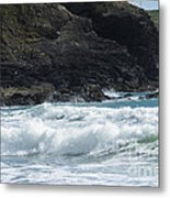 White Surf Metal Print