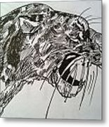 Wild Cheetah Metal Print
