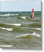 Wind Surfing Metal Print