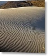 Wind Traces At The Desert Metal Print