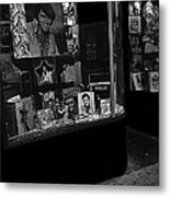 Window Display Night Of Elvis Presley's Death Recordland Portland Maine 1977 Metal Print