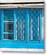 Window Of Soviet Building Metal Print