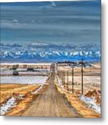 Winter Farmland Metal Print