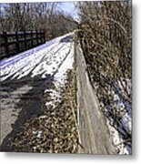 Winter On Macomb Orchard Trail Metal Print