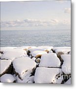 Winter Shore Of Lake Ontario Metal Print