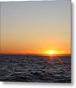 Winter Sunrise Over The Ocean Metal Print