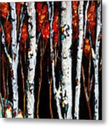 Winter Walk Metal Print by Vickie Warner