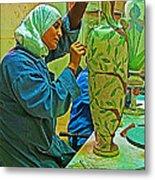 Woman Artisan At Mosaic School In Madaba In Jordan  Metal Print