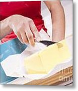Woman Cooking Metal Print