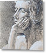 Woman Head Study Metal Print