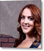 Woman Red Hair Metal Print