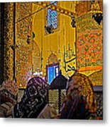 Women At Rumi's Mausoleum In Konya-turkey  Metal Print