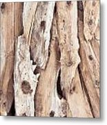 Wood Abstract Metal Print