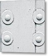 Wood And Bolts Metal Print