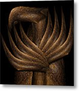Wooden Bird Metal Print