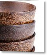Wooden Bowls Isolated Metal Print