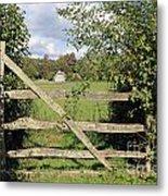 Wooden Gate Sussex Uk Metal Print