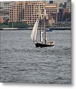 Wooden Ship On The Water Metal Print