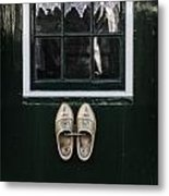 Wooden Shoes Metal Print