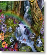 Woodland Forest Fairyland Metal Print by Alixandra Mullins