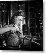 Working With The Hand Drill 1942 Metal Print