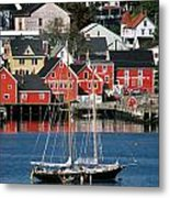 World Hertitage Designated Town On Metal Print
