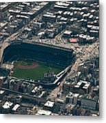 Wrigley Field From The Air Metal Print
