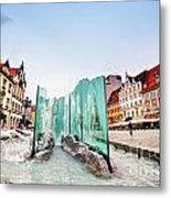 Wroclaw Poland The Market Square With The Famous Fountain Metal Print