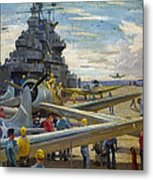 Wwii: Aircraft Carrier Metal Print