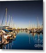 Yacht At The Pier  Metal Print