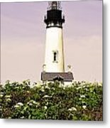 Yaquina Lighthouse In May Metal Print