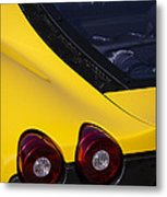 Yellow F430 Metal Print