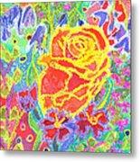 Yellow Rose Bouquet Metal Print