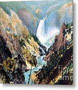 Yellowstone Canyon Yellowstone Np Metal Print