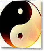 Yin And Yang 3 Metal Print