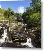 Yorkshire Dales Waterfall Metal Print