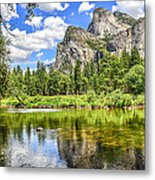 Yosemite Merced River Rafting Metal Print