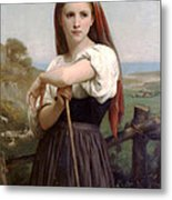 Young Shepherdess Metal Print