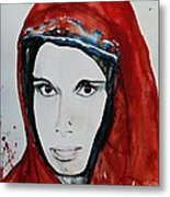 Young Woman From India - Painting Metal Print by Ismeta Gruenwald