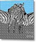 Zebra Love 19 Metal Print