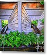 Zen Garden Fountain  Metal Print