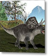 Zuniceratops Dinosaur Metal Print