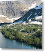 A Man Stand Up Paddle Boards Sup Metal Print