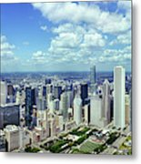 Aerial View Of A City, Chicago, Cook Metal Print