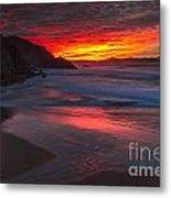 Campelo Beach Galicia Spain Metal Print