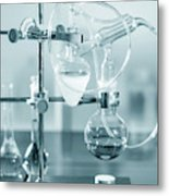 Chemistry Experiment In Lab Metal Print