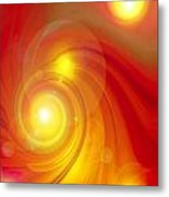 Orange Energy-spiral Metal Print